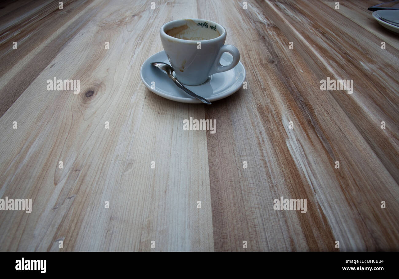 Point de vue d'une tasse de café Photo Stock