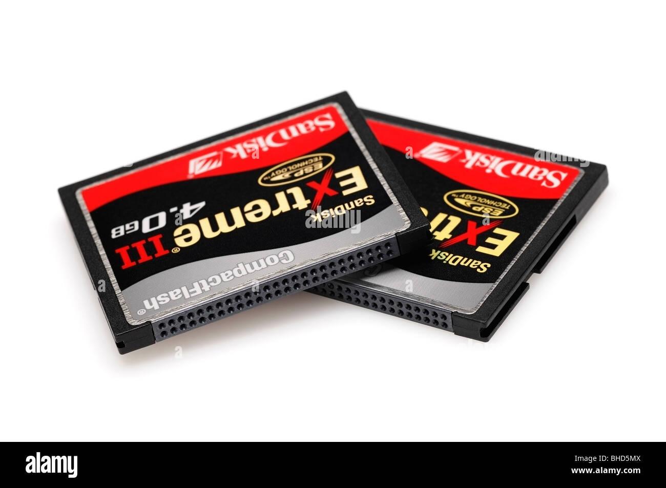 Les cartes mémoire Compactflash Photo Stock