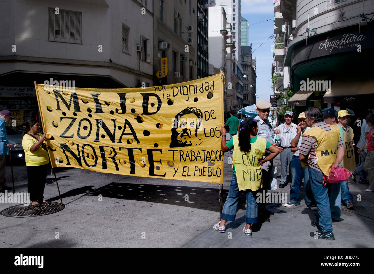 Manifestation de protestation Zona Norte Buenos Aires Argentine Town City Photo Stock