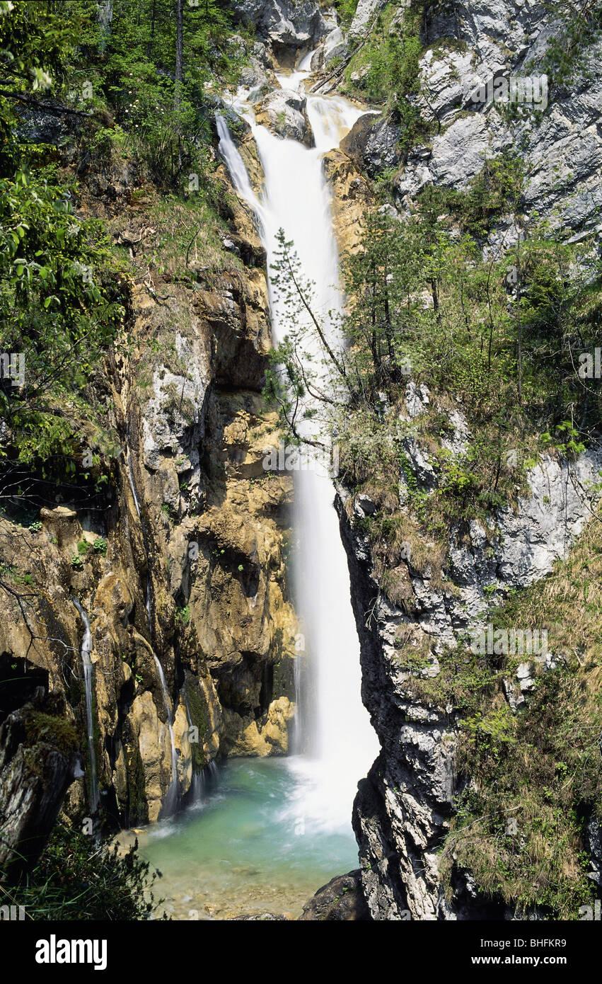 Géographie / billet, l'Autriche, la Carinthie, paysages, Tscheppa Vallée, Tschauko Falls, près Photo Stock