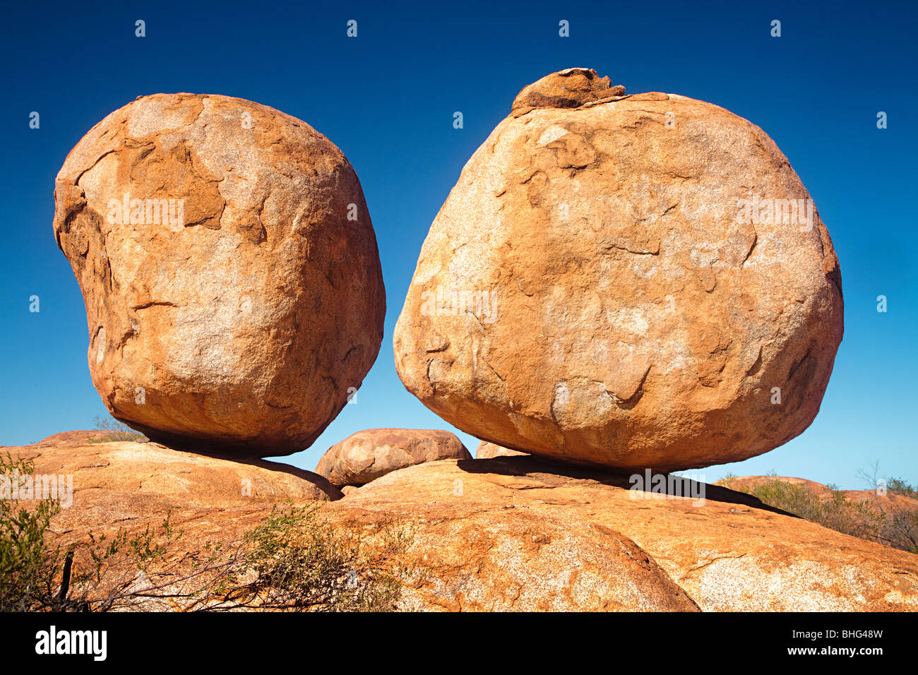 Devils Marbles australie Photo Stock