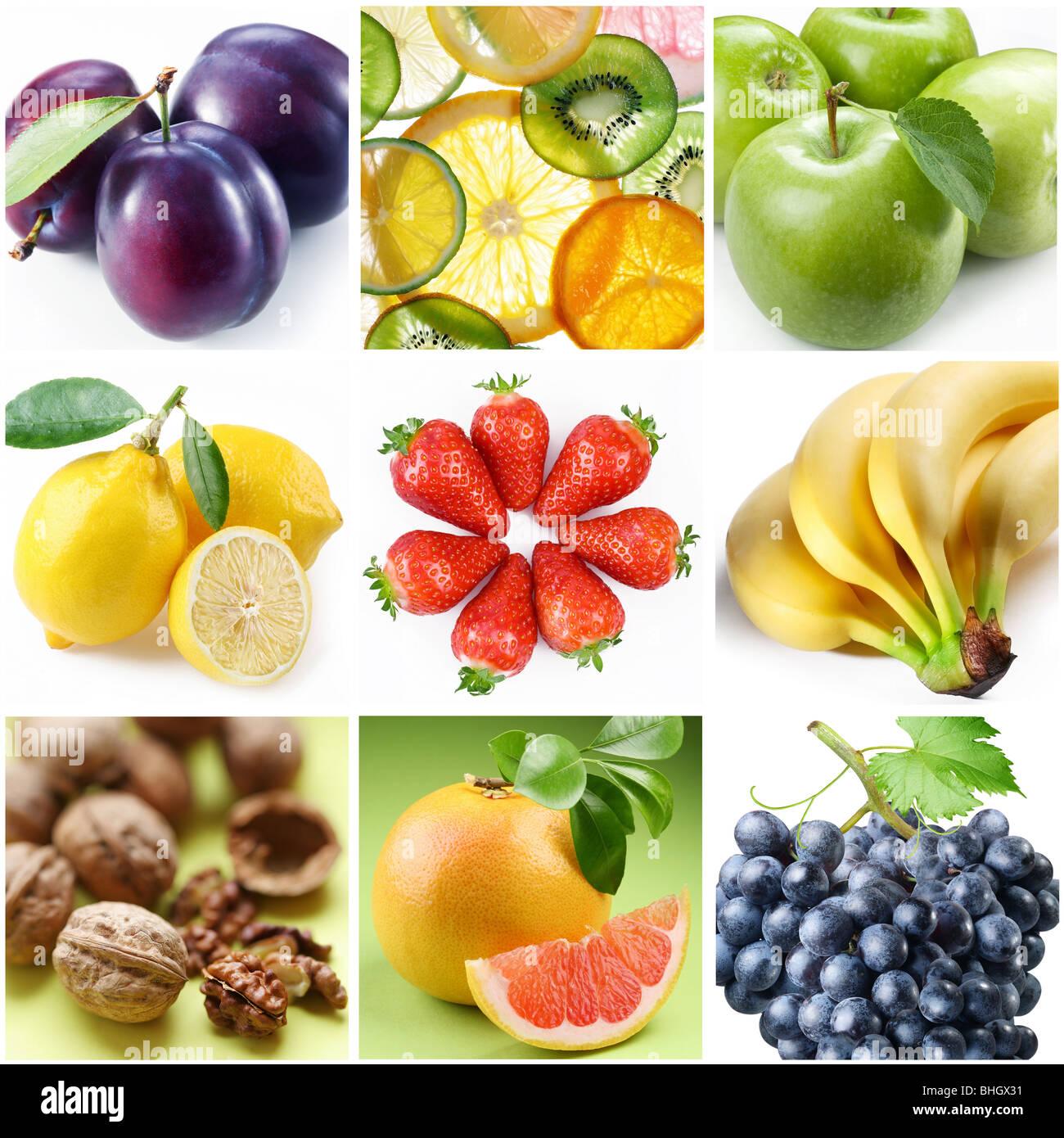 Collection d'images sur le thème de la 'Fruits' Banque D'Images