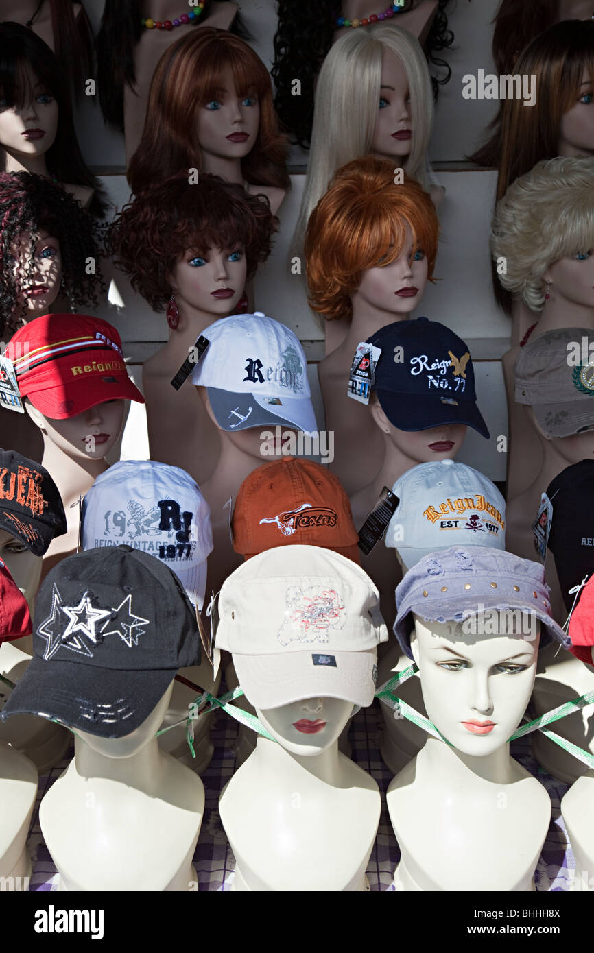 Et perruques en vente en boutique El Paso Texas USA Photo Stock