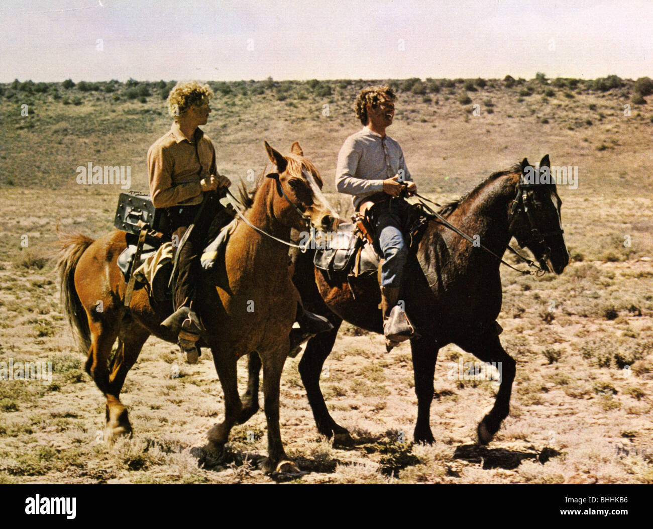 BUTCH ET SUNDANCE: LES PREMIERS JOURS - 1979 film TCF avec Tom Berenger à droite comme Butch et William Photo Stock