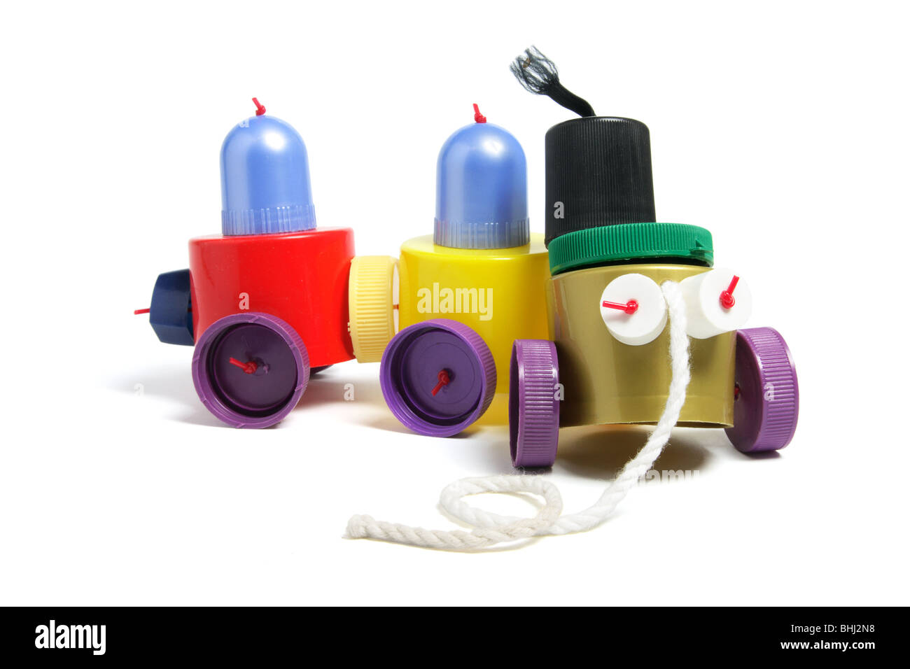 Train jouet en plastique Photo Stock