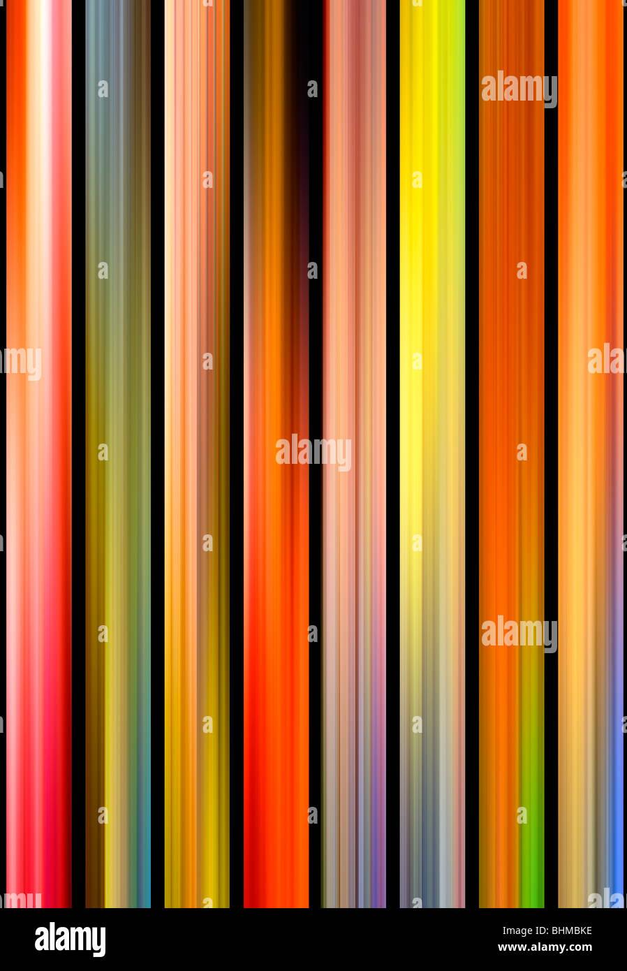 Résumé des lignes verticales de couleurs Photo Stock