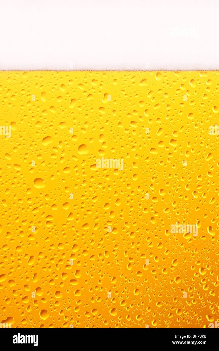Verre à bière, Close Up. Photo Stock