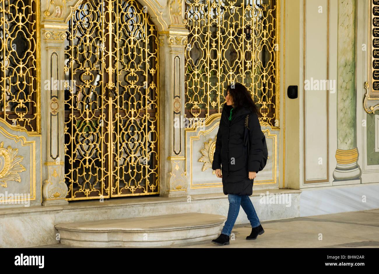 Salle de réunion du Palais de Topkapi, Istanbul Turquie Photo Stock