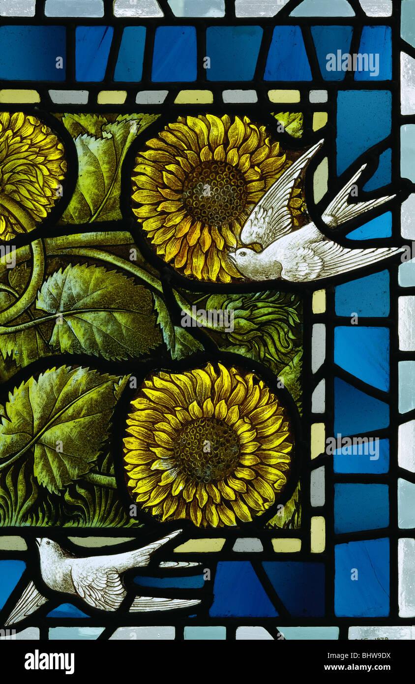Panneau en verre teinté, par Selwyn Image. Lancaster, Angleterre, fin du 19e siècle Photo Stock
