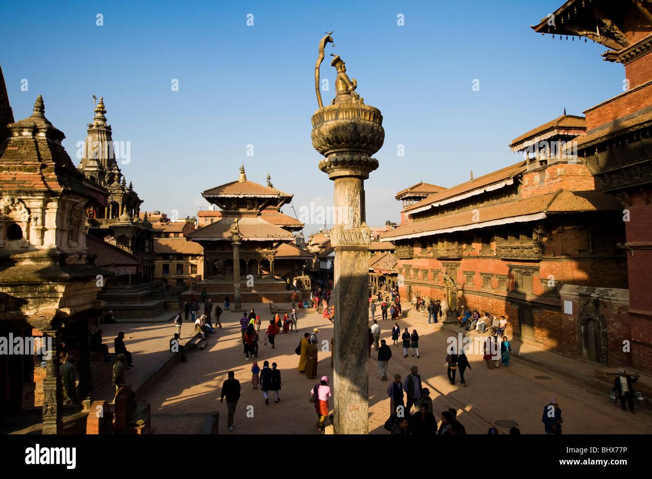 Musée de Patan Durbar Square, à Katmandou, Népal Photo Stock