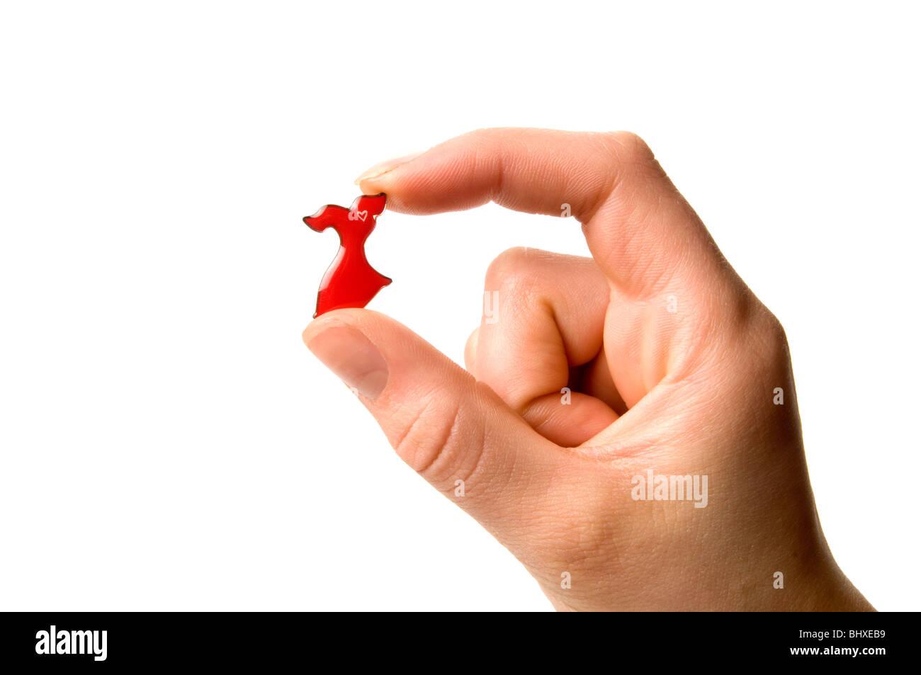 Les maladies du coeur rouge pin 'Rendez-vous pour les femmes cause initiative' Photo Stock