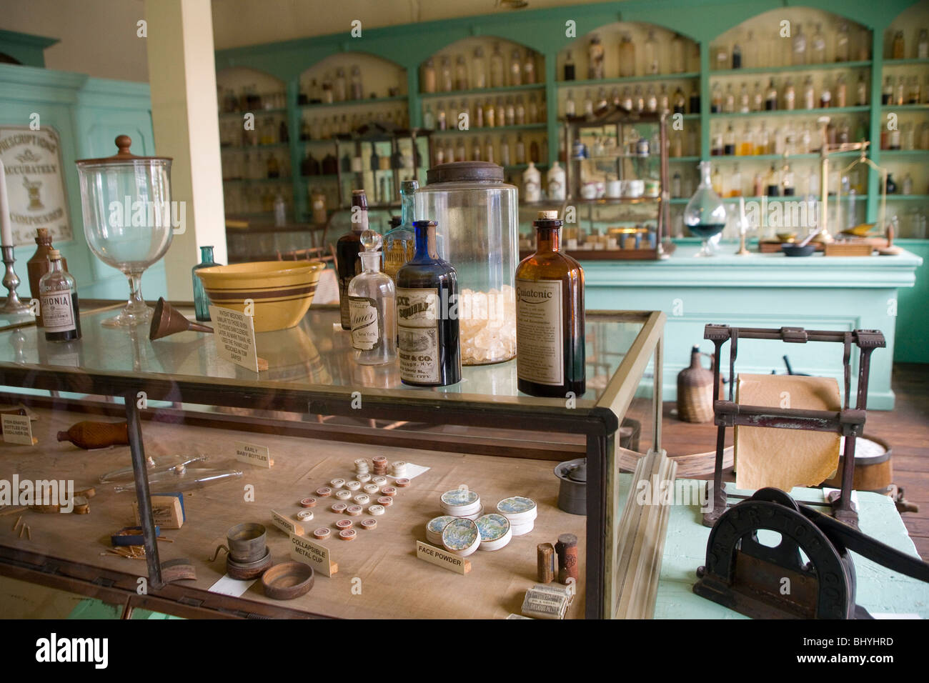 Grant's Drug Store - Maison pilastre Photo Stock