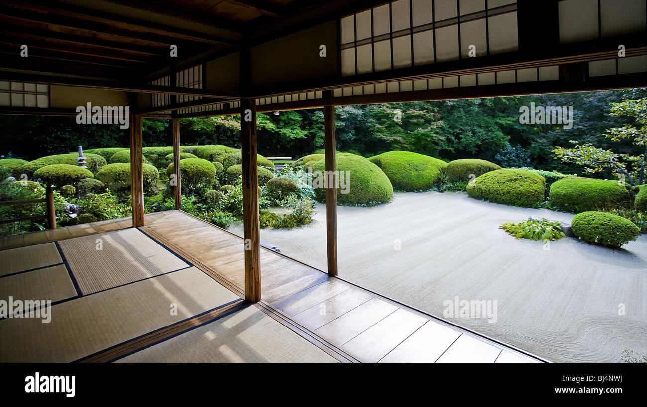 Shisendo temple. Construit en 1641 par le poète Ishikawa Jozan (1582-1672). Il appartient à la secte du Bouddhisme Banque D'Images