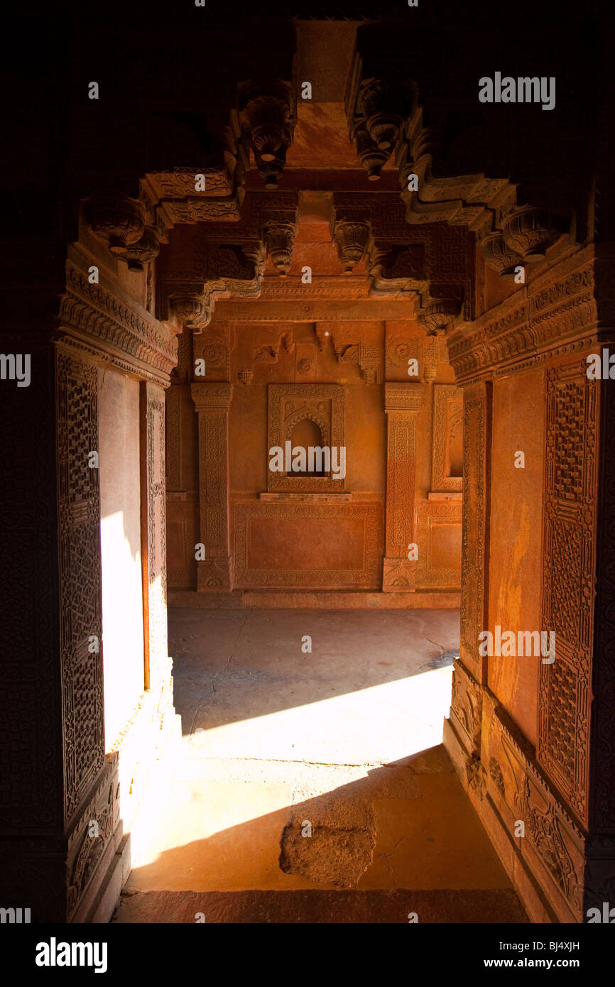 Complexe de palais à Fatehpur Sikri dans l'Uttar Pradesh, Inde Photo Stock