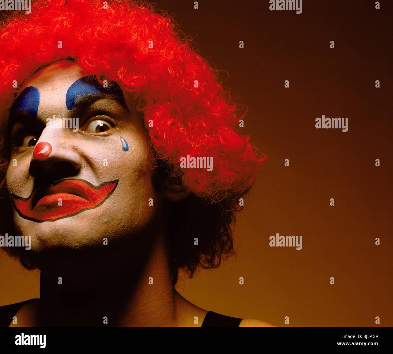 À la sinistre clown Photo Stock