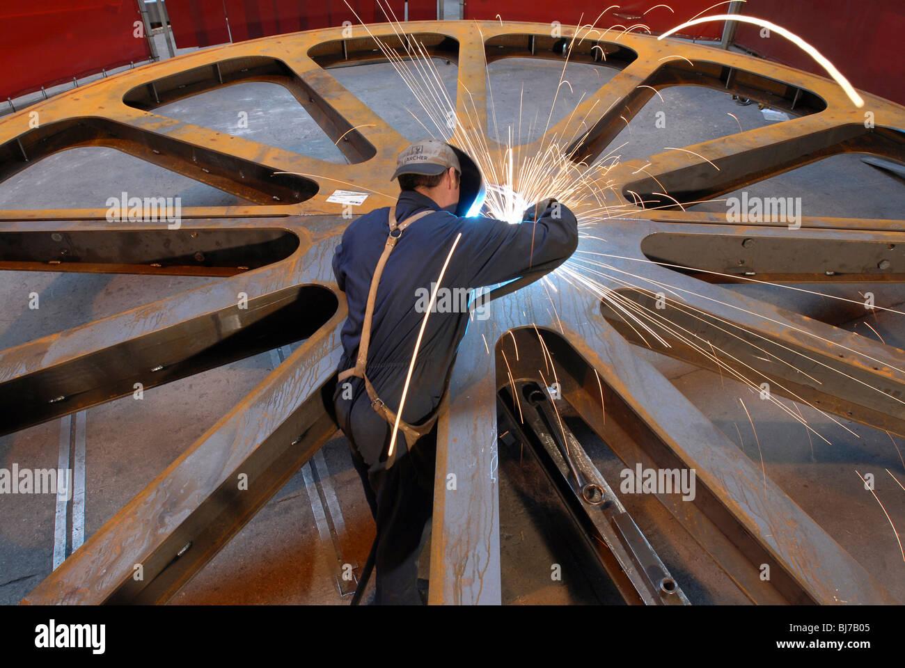Leither AG fabrique de téléphériques, téléskis et roues moulin, Italie Photo Stock