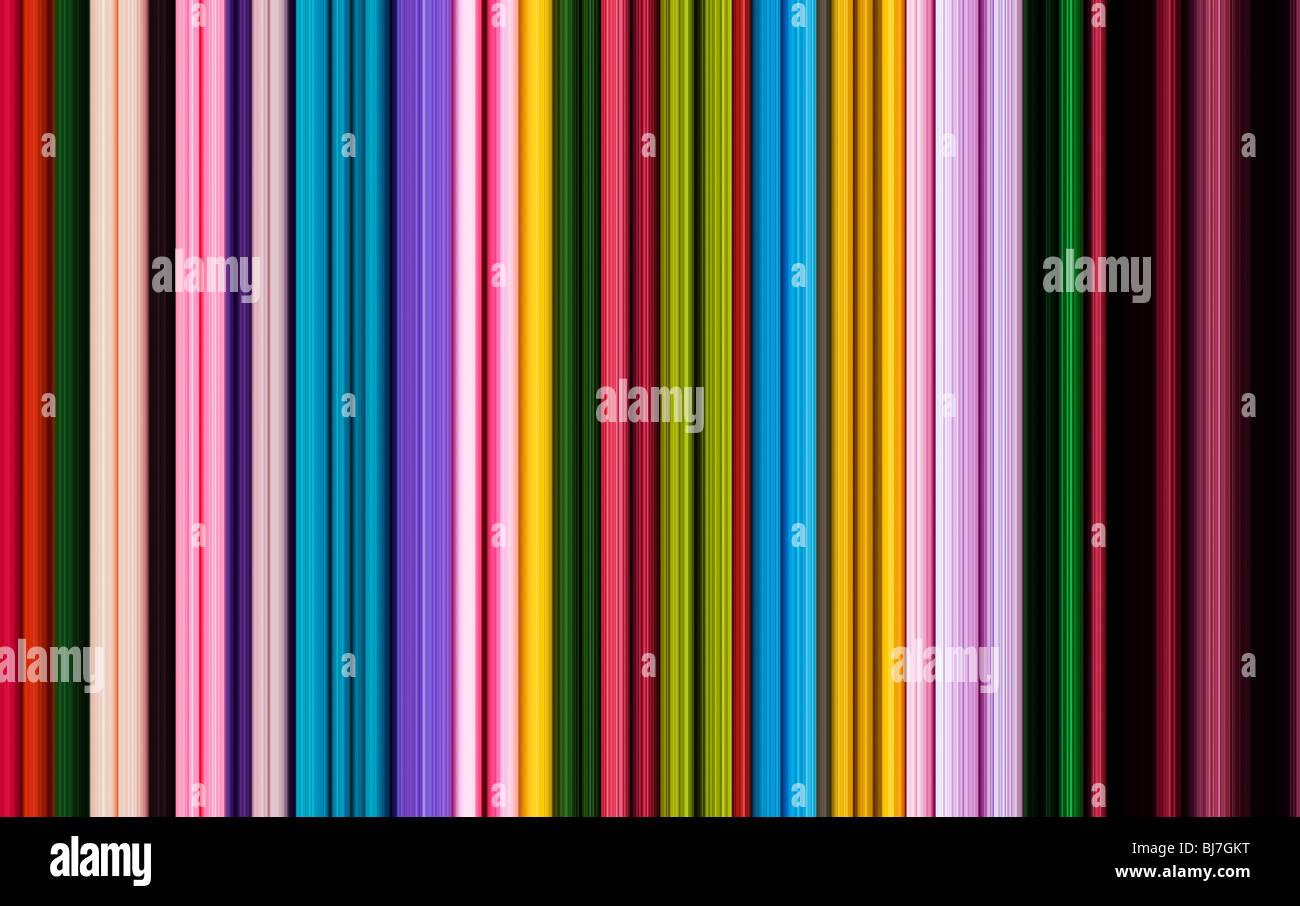 Rayé multicolore motif de lignes. Illustration numérique fabriqué à partir d'une photographie Banque D'Images