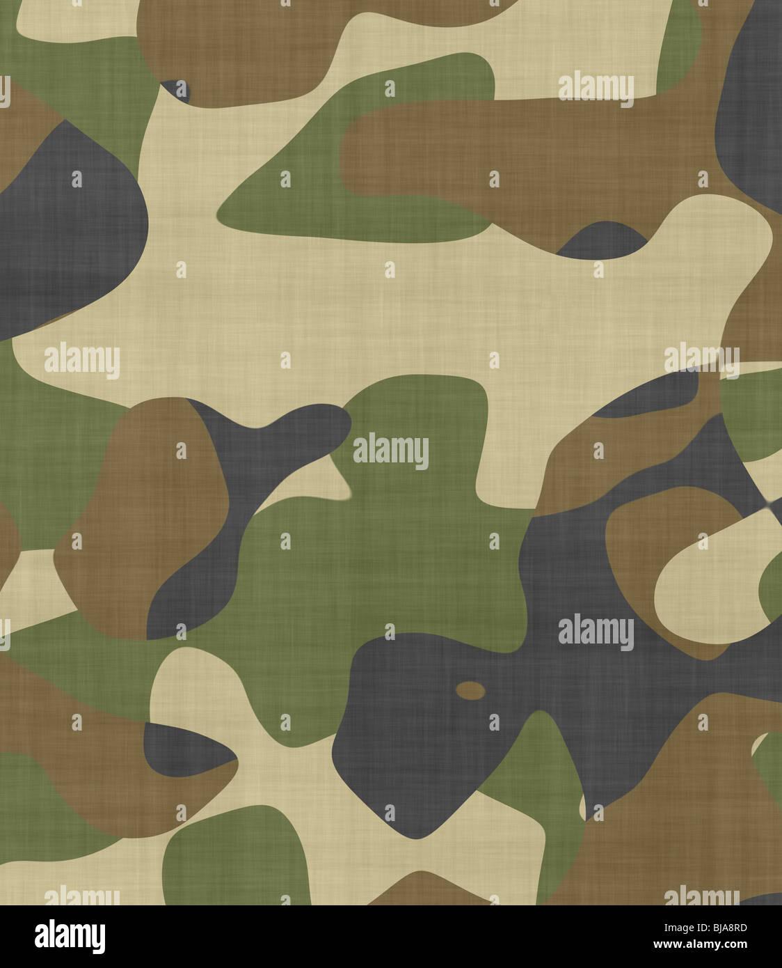 Grande image de tissu camouflage avec de l'espace pour le texte Banque D'Images