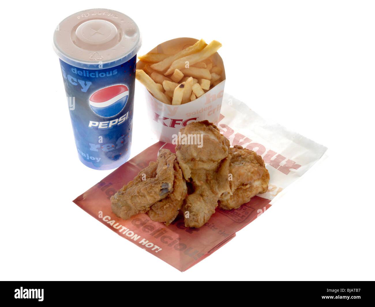 Repas de poulet frit Recette originale Photo Stock