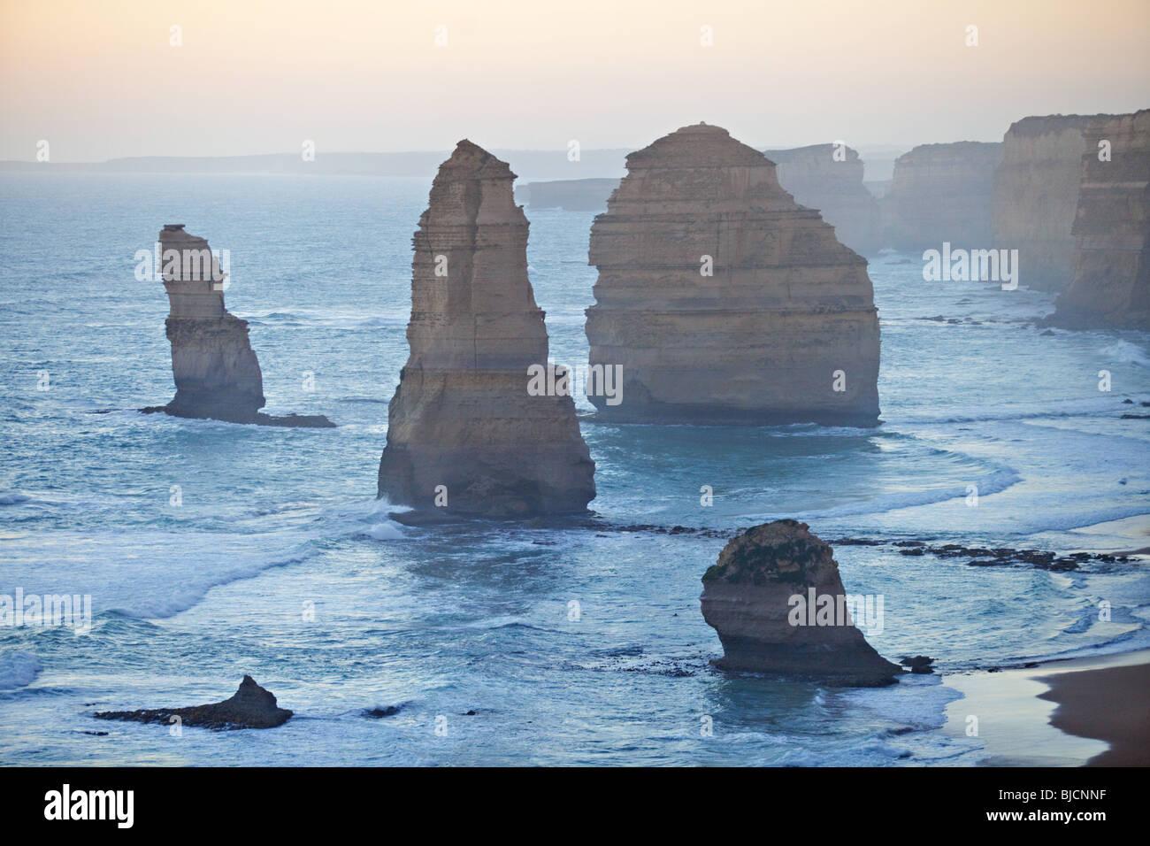 Douze Apôtres, Port Campbell National Park, Victoria, Australie Photo Stock