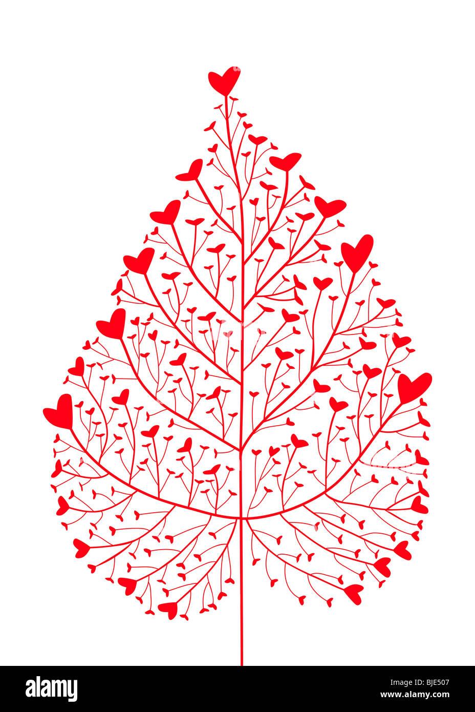 arbre de coeur Photo Stock