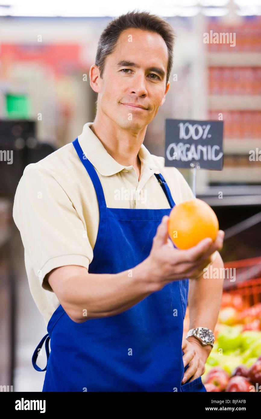 commis d'épicerie Photo Stock