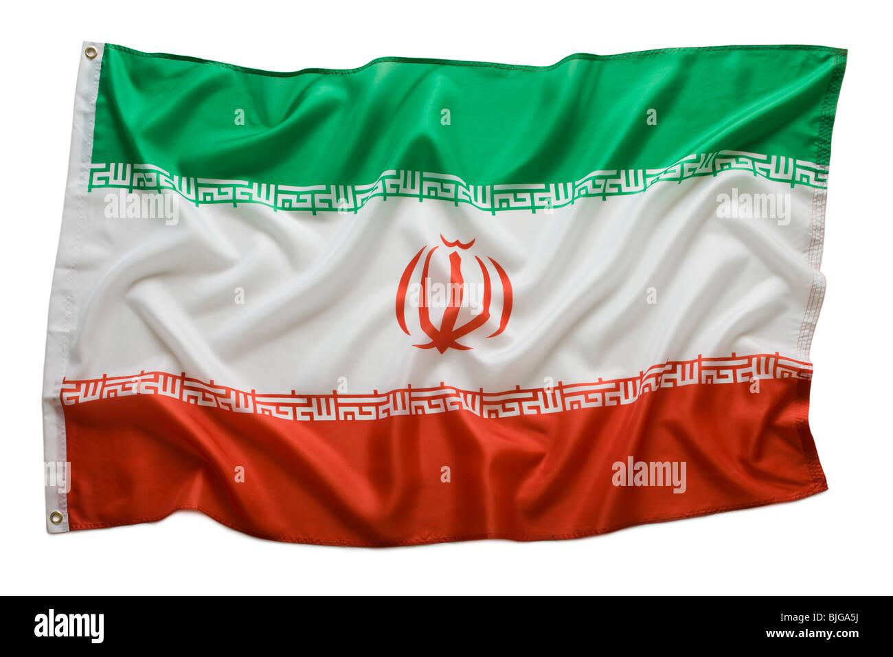 drapeau iranien Photo Stock