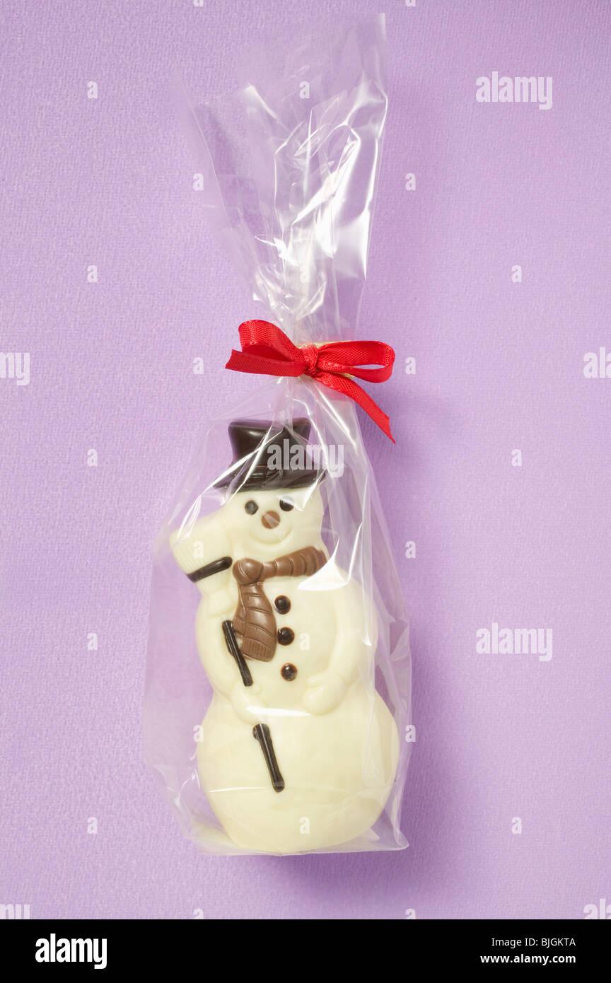 6 x Bonhomme de neige et Snowdog Claire Panier à Cellophane affichage Sacs Avec