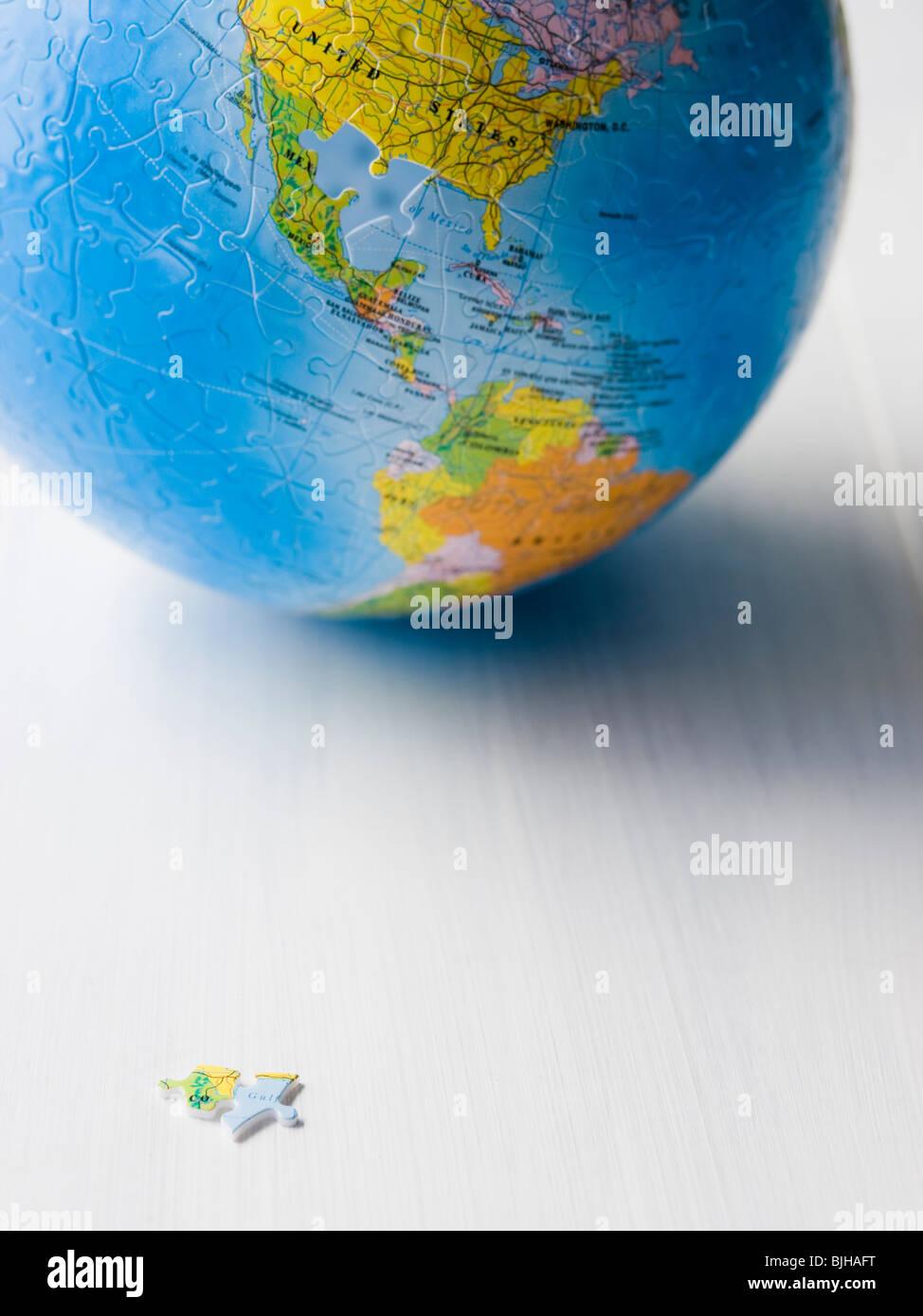 La planète terre puzzle Photo Stock