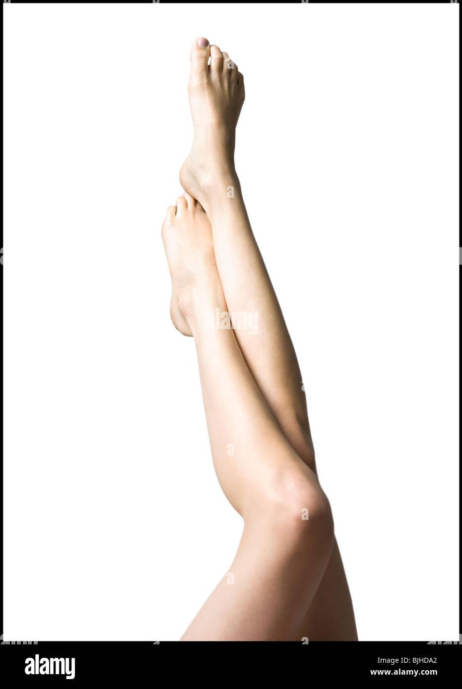 jambes de femme Photo Stock