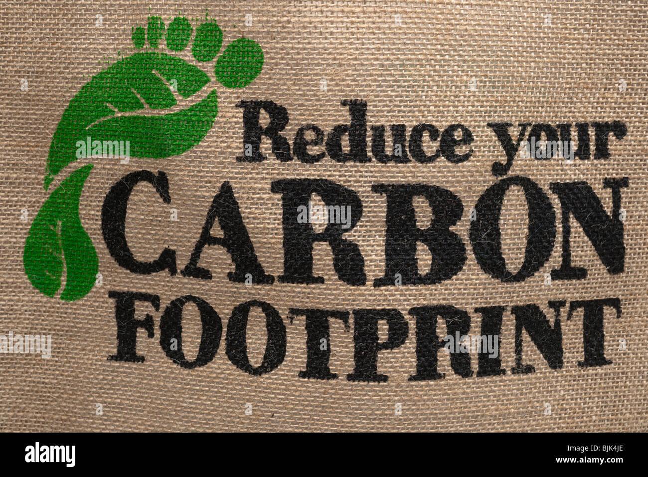 Réduisez votre empreinte carbone Photo Stock