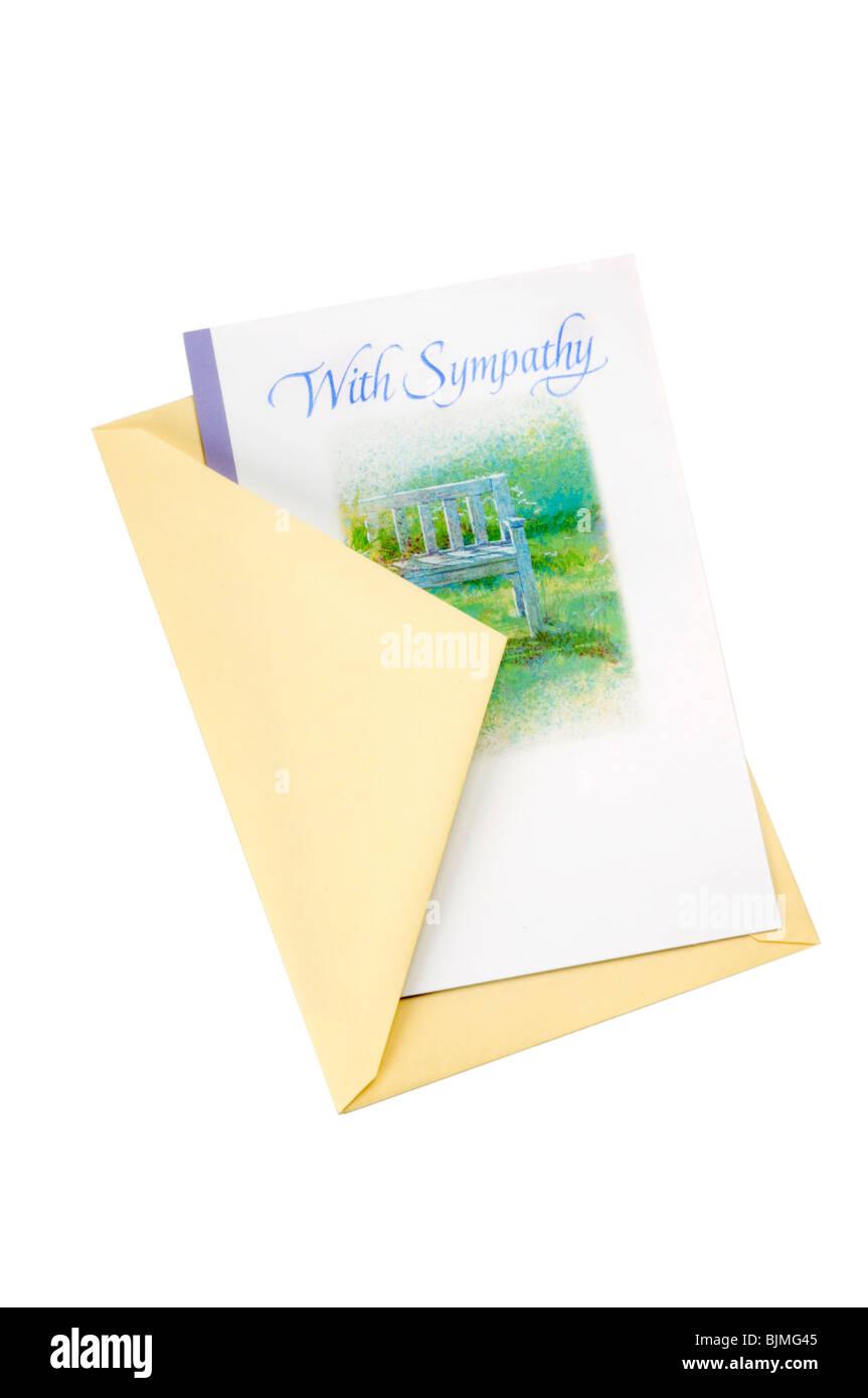 Carte de condoléances et d'enveloppe Photo Stock