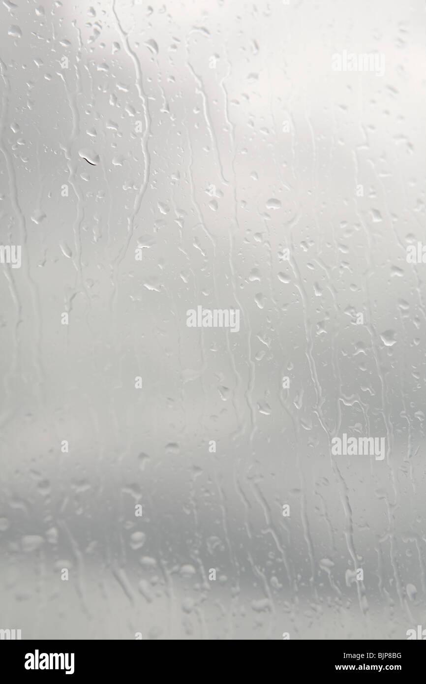 La condensation sur une fenêtre Photo Stock