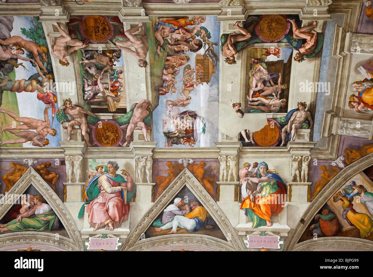 Rome Cite Du Vatican Musees Du Vatican Plafond De La Chapelle