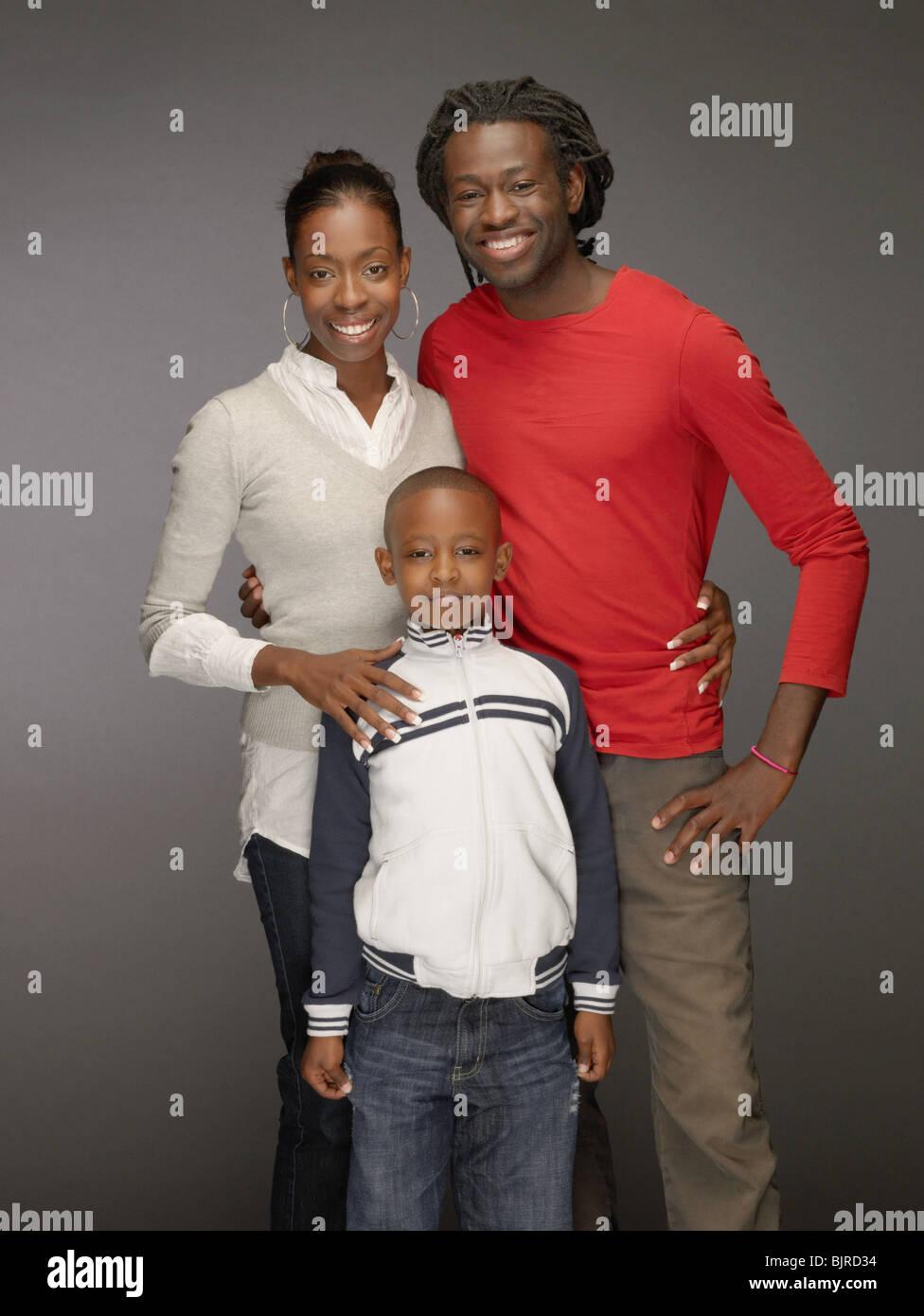 Portrait d'une famille Photo Stock