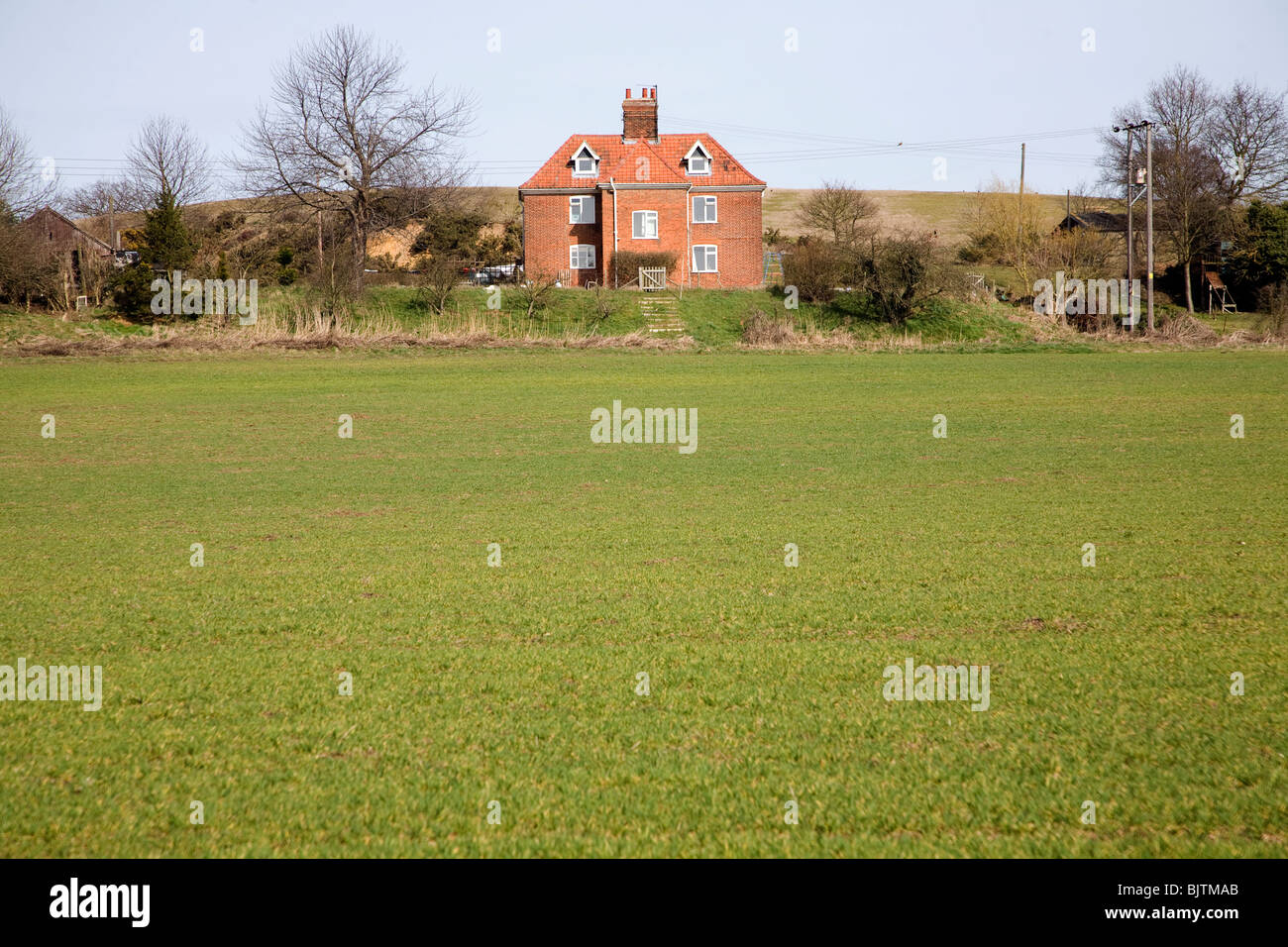 Cherry Tree Farm ferme isolée, Great Bealings, Suffolk Banque D'Images