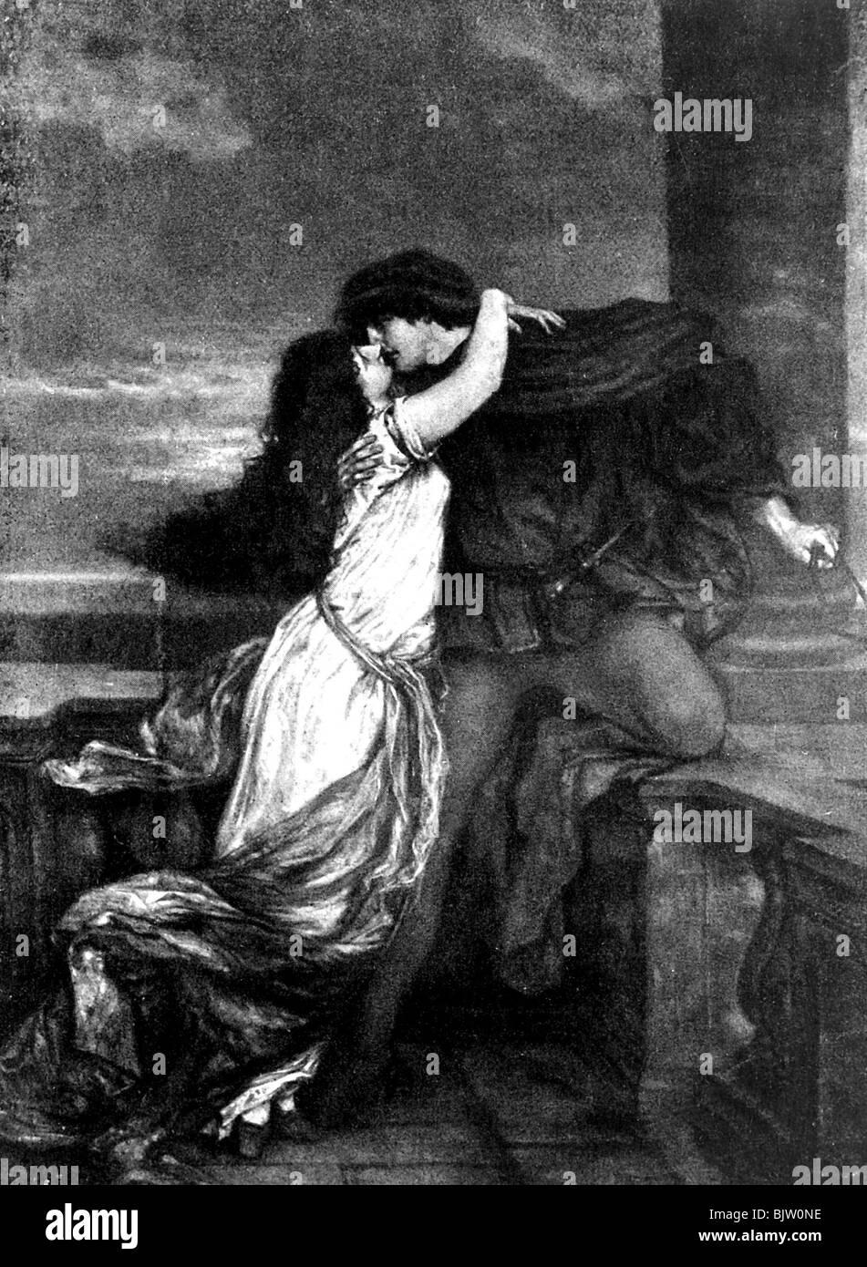 Litterature Romeo Et Juliet Par William Shakespeare Scene De Balcon Peinture Par Viktor Mueller Photo Stock Alamy