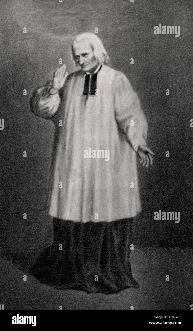 Jean-Marie Vianney, curé d'Ars, prêtre français, 1858. Artiste: Inconnu Banque D'Images