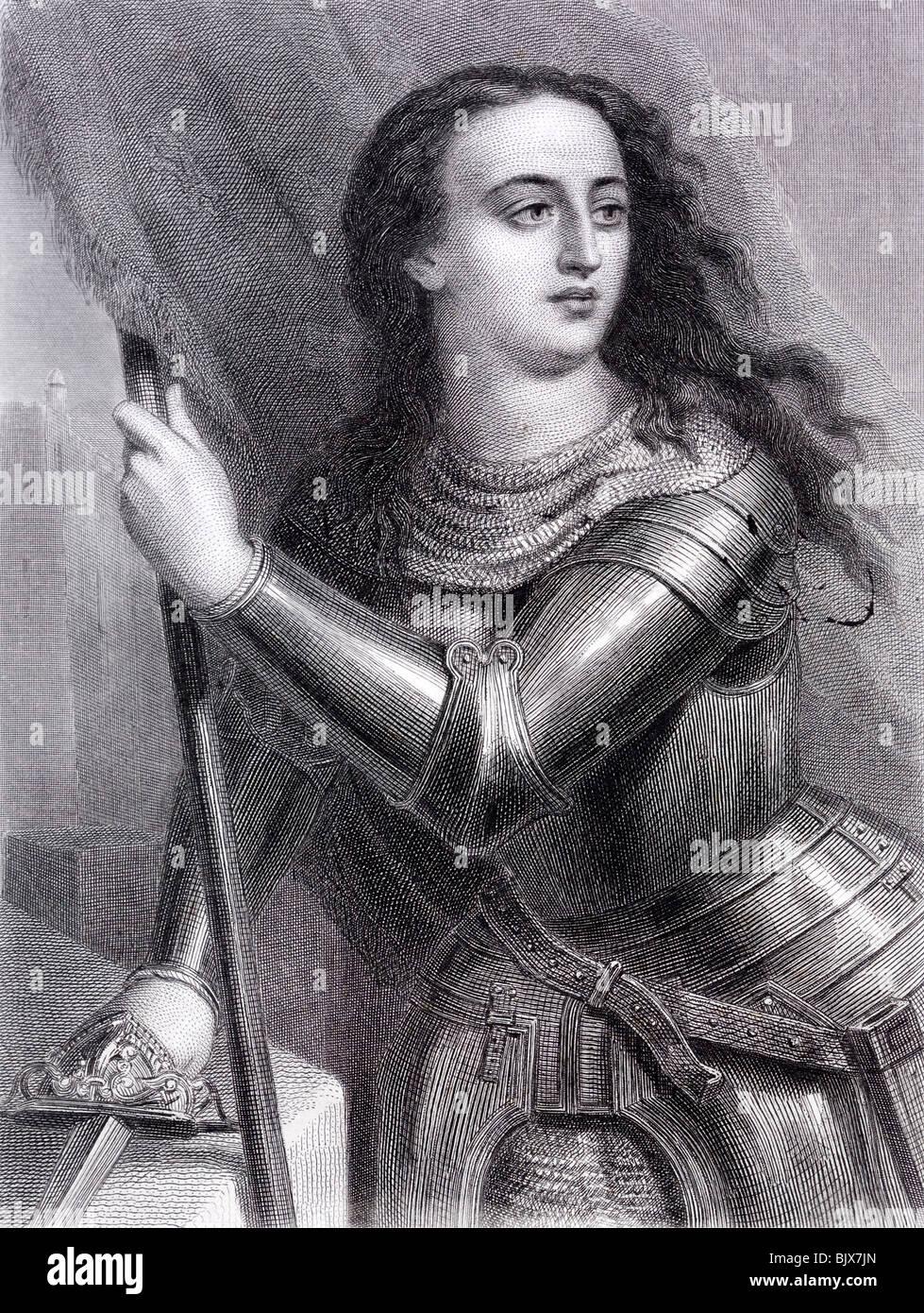 Sainte Jeanne d'arc ou la Pucelle d'Orléans l'héroïne nationale de la France et un Saint Photo Stock