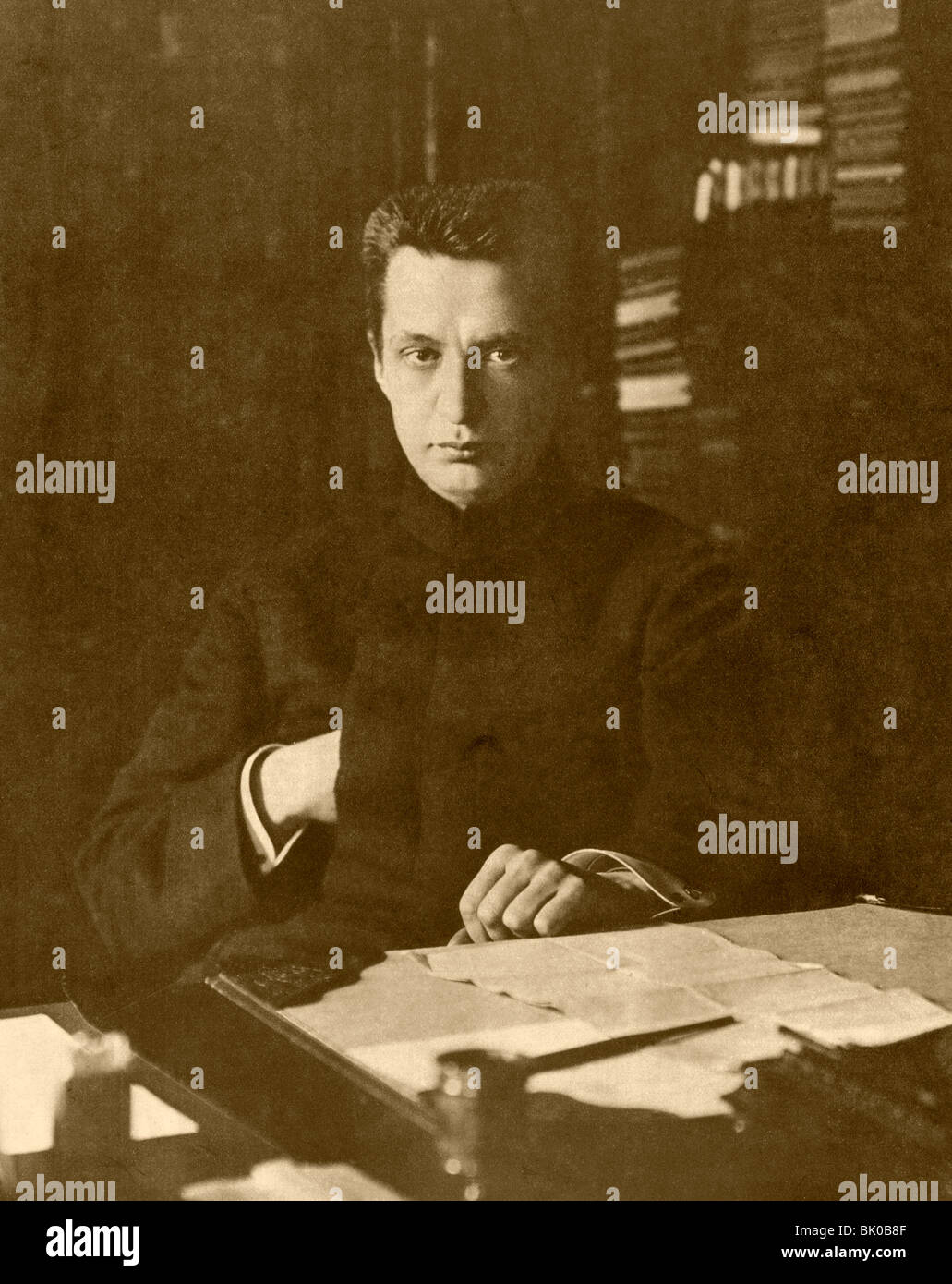 Alexandre Fiodorovitch Kerensky 1881-1970. Homme politique russe. Photo Stock