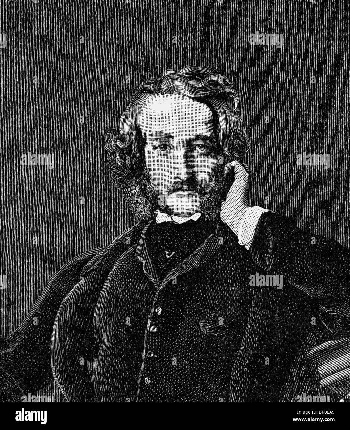 Bulwer-Lytton, Edward, 1. Baron Lytton, 25.5.1803 - 18.1.1873, politicien britannique et auteur / écrivain, demi-longueur, gravure en bois, XIXe siècle, , Banque D'Images