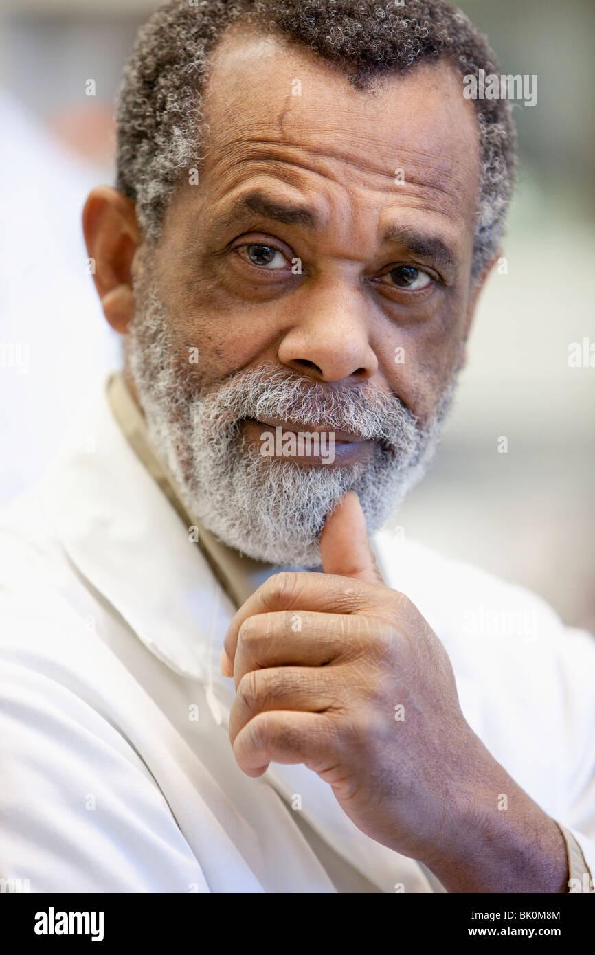 Le scientifique américain africain Banque D'Images
