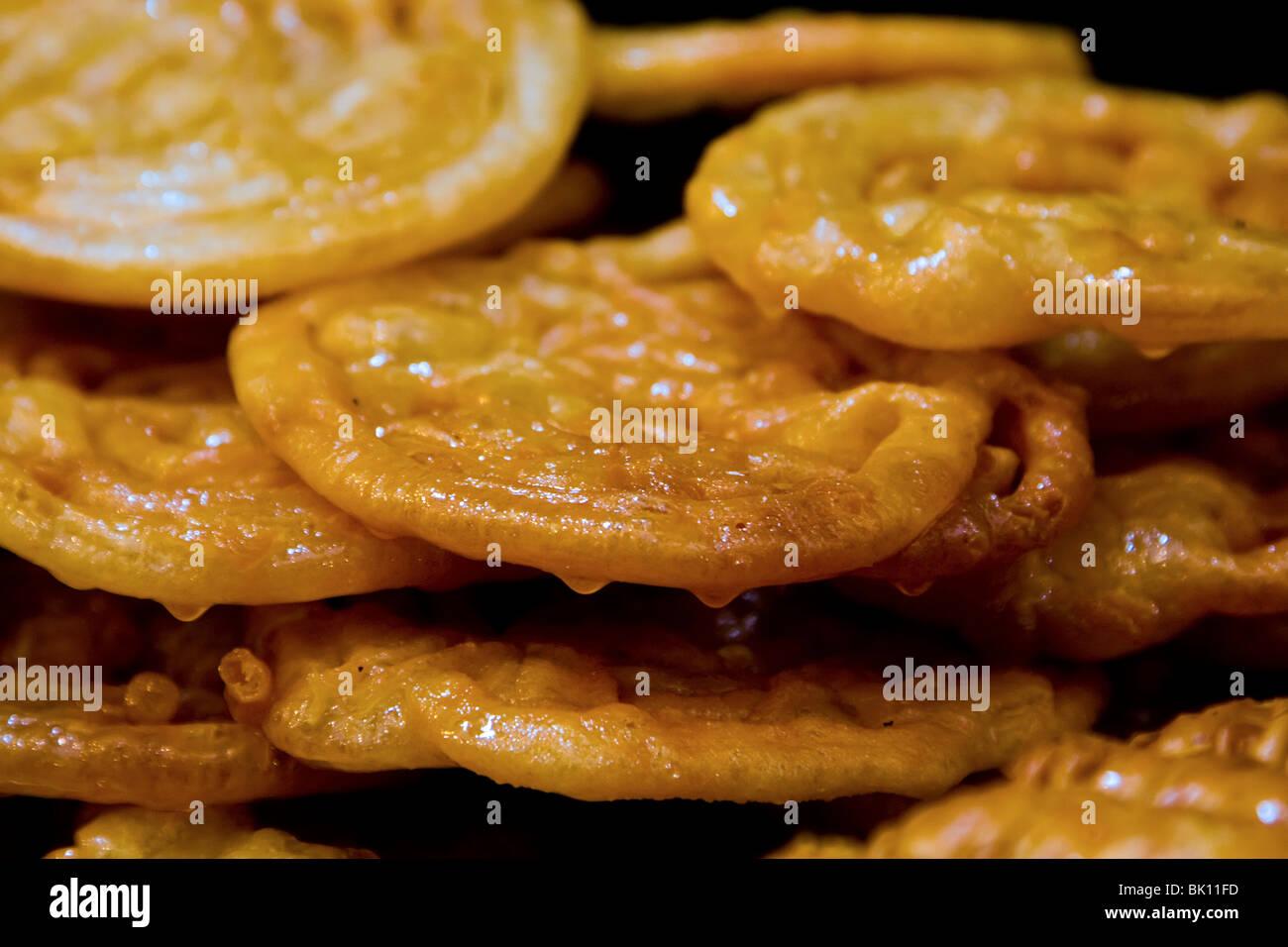 Zalabia - dessert sucré du Moyen Orient Photo Stock