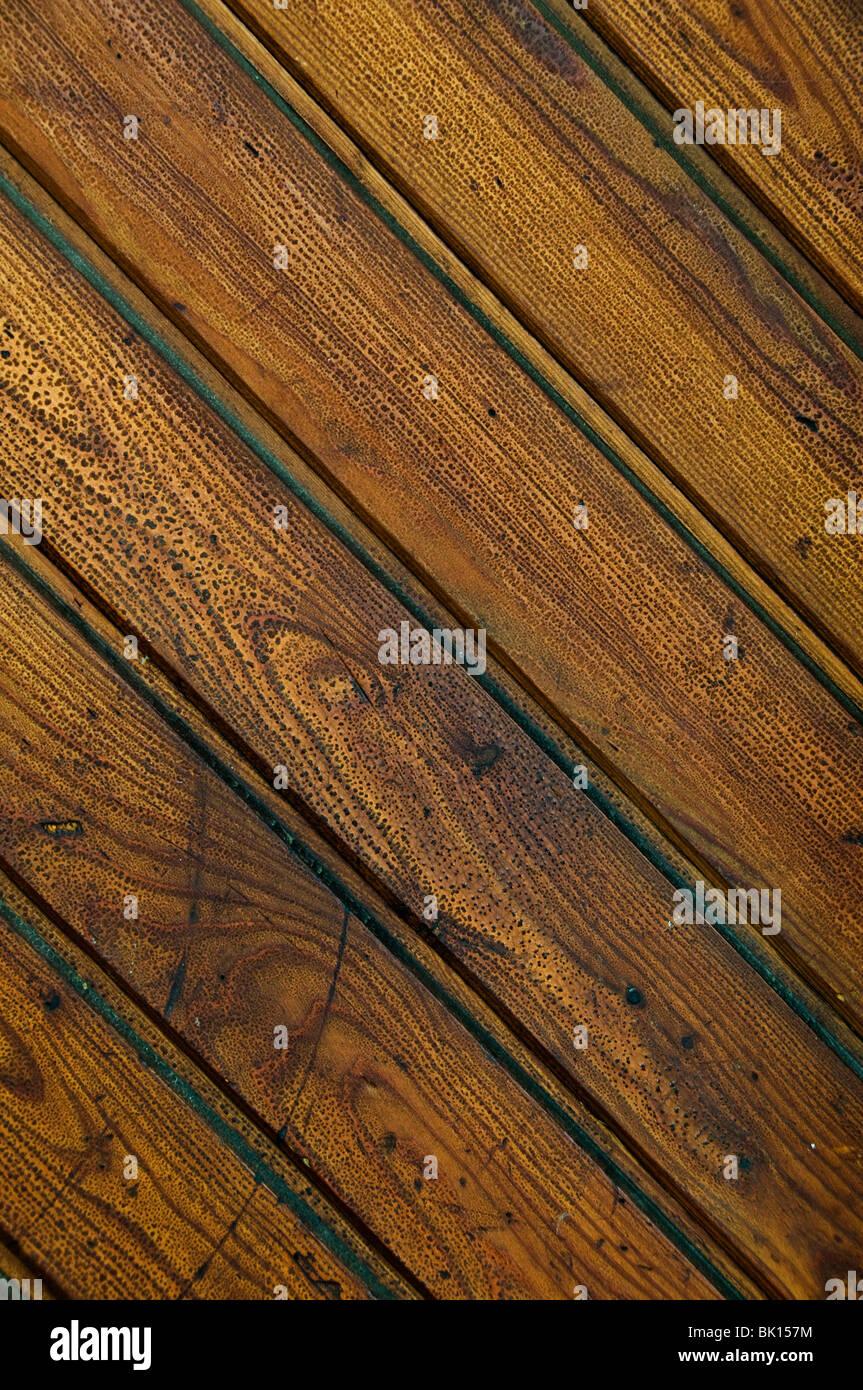 Détail d'une porte en bois en arrière-plan Photo Stock