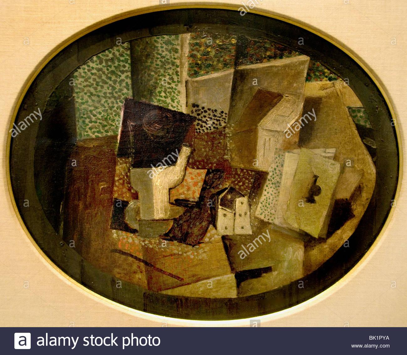 Dice 1914 peintre Georges Braque Français France 1882-1963 Photo Stock