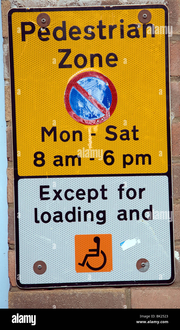 Parking Zone piétonne minimal Photo Stock