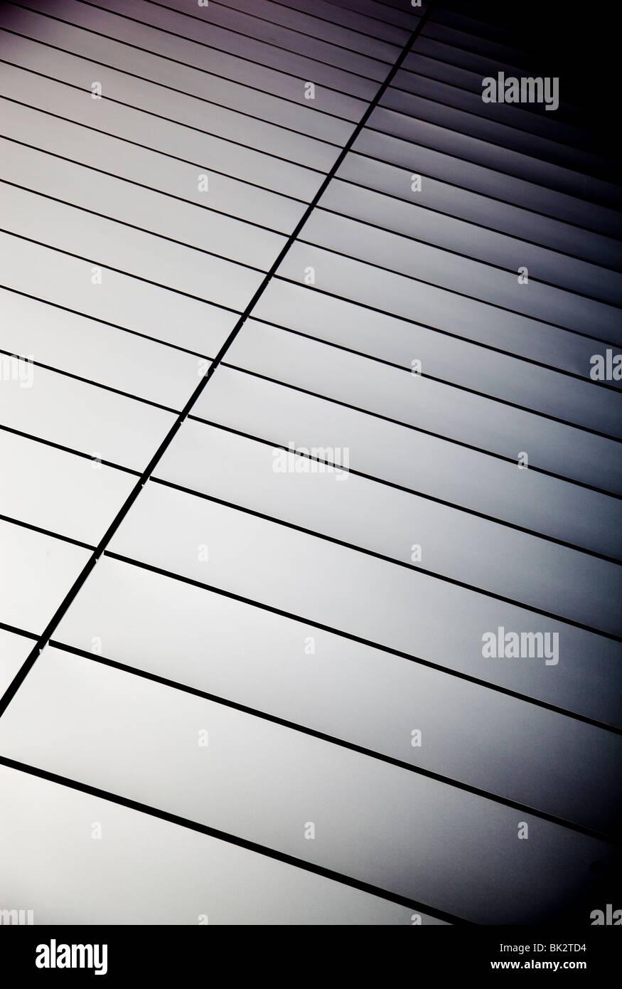 Mur de plaques d'acier poli Photo Stock