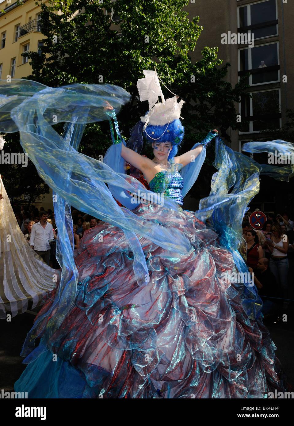 Karneval der Kulturen, Carnaval des Cultures, Berlin, Kreuzberg, l'Allemagne, de l'Europe. Photo Stock