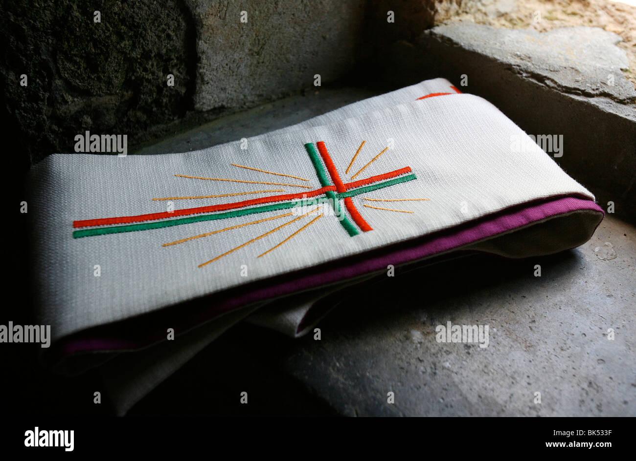 Le prêtre a volé, Notre-Dame de la Gorge, Haute Savoie, France, Europe Banque D'Images