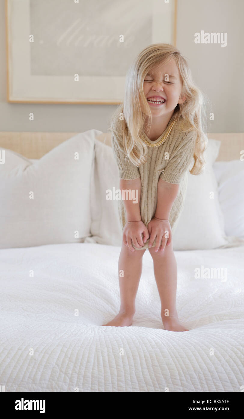 Fille avec de grand sourire Photo Stock